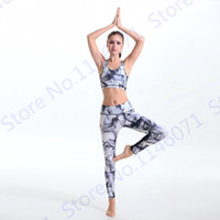 Wholesale white yoga pants tight leggings resale online - New Arrival Ink Yoga Pants Smoke Print Yoga Tights Active Smog Fitness Skinny Pants Breathable Thin Running Sport Leggings White