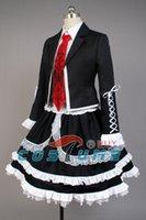 Wholesale Celestia Ludenberg Cosplay - dresse Dangan Ronpa Danganronpa Celestia Ludenberg Uniform Long Sleeve Top Short Dress Anime Halloween Cosplay Costume