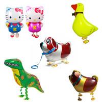 balão inflável do animal de estimação venda por atacado-Andar de balão animais de estimação de Alta Qualidade Barato Andando Animal Balão Inflável Alumínio Andando Pet Balloon Decoração de Natal Crianças Brinquedos