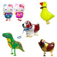 şişme pet balonu toptan satış-Yürüyüş balon evcil Yüksek Kalite Ucuz Yürüyüş Hayvan Balon Şişme Alüminyum Yürüyüş Hayvan Balon Noel Dekorasyon Çocuk Oyuncakları