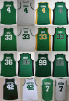 Wholesale Shirt Bird - 2017 Isaiah Thomas 4 Basketball Jerseys 7 Jaylen Brown 42 Al Horford 36 Marcus Smart 99 Jae Crowder Jersey 33 Larry Bird Basketball Shirts