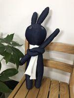 Wholesale Handmade Cute Animal - Stuffed Animal Rabbit Handmade Denim Plush Animal Bunny Cute Lovely Environmental Demin Fabric Filling Plush Material
