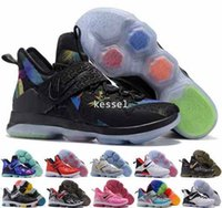Wholesale Glow Dark Rainbow - 2017 LB 14 James XIV 14s Mens Basketball Shoes,Rainbow Christmas Rio Glow Coast Elite Athletic Sports Men LBJ Sneakers Trainers US 7-12