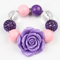 Wholesale Kids Wholesale Acrylic Bangle - childrens Bracelet For Girls Bubblegum Kids Jewelry Accessories Beaded Stretch Bangle Birthday Gift