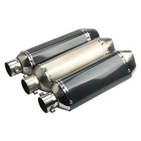 Wholesale Universal Catalytic Converter - 38-51mm Universal Motorcycle Exhaust Muffler Pipe Stainless Steel Exhaust System with Removable DB Killer Slip On Dirt Street Bike Motorcycl