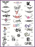 Wholesale Temporary Tattoo Stencils Free - Wholesale- Big Size 30 Designs Body art Temporary Airbrush Tattoo Stencil Template Book 5 - Free shipping