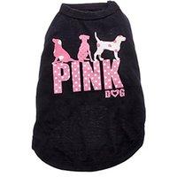 ingrosso giacche rosa maglione-New Pet Letters Vestiti Pink Dog Summer Pet Gilet traspirante Puppy Camicia comoda 4 colori Chihuahua Maglione