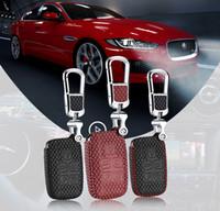 Wholesale Jaguar Key Case - Brand New High Quality leather remote key Case key bag Cover Holder Fit For Jaguar Series