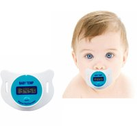 Wholesale Digital Lcd Soft Nipple Thermometer - Practical Digital LCD Pacifier Baby Infants Nipple Thermometer For Kids Soft Safe Mouth Thermometer Celiuse