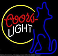 Coors Light Moon Coyote Wolf Insegne Personalizzate fatte a mano Real Glass Bar Club KTV Pub Store Pubblicità Display Neon Signs 17