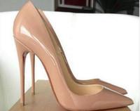Wholesale Shoes Woman Pumps - Brand Shoes Woman High Pumps Red High Heels 12CM Women Shoes High Heels Wedding Shoes Pumps Black Nude Heels