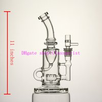 Wholesale Function High - glass bong,High quality water oil rig,11 inches glass bongs,recycler oil rigs, good function ,giving glass bowl.