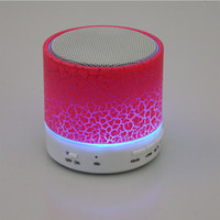 Wholesale hot Selling Smart Mini Portable Wireless Bluetooth Speaker LED Light Stereo Hands free USB TF card Speaker for phone PC