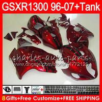 Wholesale 1996 Hayabusa - 8Gifts 23Colors For SUZUKI Hayabusa GSXR1300 96 07 1996 1997 1998 15NO113 GSXR 1300 glossy black GSXR-1300 GSX R1300 1999 2000 2001 Fairing