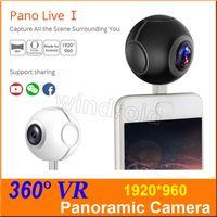 Wholesale Image Air - Pano Live 1 360 Air Mini Panoramic 360 Camera Dual Angle FishEye Lens Micro USB Type C VR Camera for Andriod Smartphone with retail box 5pcs