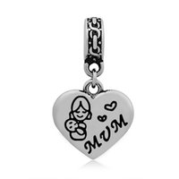 Wholesale People Beads - Wholesale 10pcs lot MOM & honey grandma sister Daughter Friend Lovely People Charms Stainless Steel Beads Charms for Jewelry Making 15*16mm