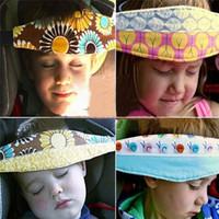 Wholesale Baby Head Belt - Wholesale- Fabric Car Safety Seat Sleep Positioner Baby Playpen Head Support Pram Stroller Adjustable Dot Belt