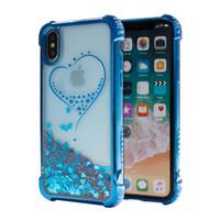 notiz-treibsand-fall großhandel-Beschichtung quicksand case für iphone x iphone 8 plus für samsung galaxy note 8 s8 plus glitter flüssigkeit abdeckung d