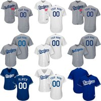 Wholesale Personalize Logo - Los Angeles Dodgers Personalized Custom Jersey Mens Womens Youth Flex Base Cool Base Dodgers Baseball Jersey Customized Stitched Logo