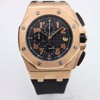 Wholesale Dive Watch Men Rubber Band - 2017 Top sell factory supplier Luxury Brand men Royal Oak Offshore rubber band gold Watch men quartz chronograph watch Mens dive Watch