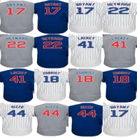 Wholesale Men 6xl 5xl 4xl - Cheap 2016 WS Champions Men Kid Lady Toddlers Chicago 44 Anthony Rizzo 17 Kris Bryant 18 Ben Zobrist Jason Heyward Lackey Baseball jerseys