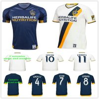 Wholesale Galaxy Uniforms - Los Angeles Galaxy Soccer Jersey 8 GERRARD 23 BECKHAM 10 GIOVANI 10 DONOVAN 7 KEANE 4 GONZALEZ ZARDES ROGER Football Shirt Kit Uniform