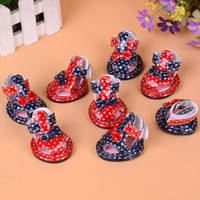 Wholesale Small Dog Sandals - Good PU Summer Cute Butterfly Pet Dog Mesh Breathable Sandals Stars Pattern Dog Anti Skid Shoe Free Shipping