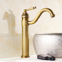 Wholesale Grifo Faucets - Basin Faucet Antique European Style Hot and Cold Water Tap Mixers Single Hole Decked Mounted Retro Grifo