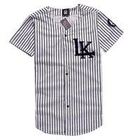 Wholesale Wholesale Women S Jerseys - Wholesale- Free Shipping KNYEW 07 DXPECHEF 99 Stripe T-shirt Jersey Last King LK Hip Hop Men&Women Couples Tops Cotton T-shirts Tees