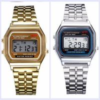 Wholesale Thin W Led - Retail Wholesale - Free Shipping F-91W Watches f91 Fashion -thin LED Change Watches F91 W Sport Watch