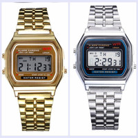 Wholesale wholesale fashion square for sale - Retail F W Watches f91 Fashion thin LED Change Watches F91 W Sport Watch