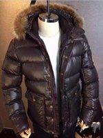 Wholesale Novelty Ducks - DHL M139 Luxury Brand Jacket anorak men winter parka men real raccoon fur jacket winter thick Down and Parka Anorak jacket