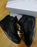 Wholesale Rhinestones Fast Shipping - Premium Pinnacle 5 Black PRM 5s Wholesale Top Quality Retro 5 Basketball Shoes With Box Men Size Fast Free shipping