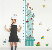 Wholesale Liberty Homes - MJ8021 Statue of Liberty Height Sticker Removable Wall Stickers Height Measure For Kids Room Decal Home Decals