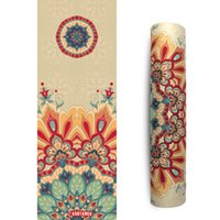 Wholesale Design your own yoga mat custom Eco Friendly Digital print natural rubber and suede surface combo yoga mat