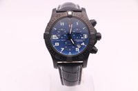 Wholesale discount sports watches online - Discount Sale Men New Style Brei Quartz watches Blue Dial Leather Band Original clasp Sport Watch Montre Homme