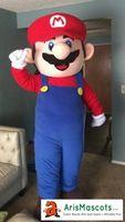 mario trajes mascotes venda por atacado-100% fotos reais super mario mascot costume mario bro terno mascotes Dos Desenhos Animados trajes de fantasias mascote personalizado trajes em arismascots