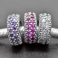 sport inspiration - Authentic Sterling Silver Bead Charm Pave Inspiration Spacer Crystal Beads Fit Women Pandora Bracelet Bangle DIY Jewelry HK3268
