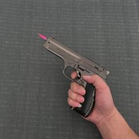 military props 도매-대형 금속 권총 54 PKK 브라우닝 군사 모형 총 금속 라이터 방풍 1 : 1 금속 리볼버 유형 건 라이터.