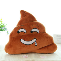 Wholesale old type toys online - cm Types Cute Mini excrement Emoji Funny Pillow Doll Toy Throw Pillow Amusing emotion Tricky Poo Cushion kids gift