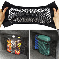 Wholesale Trunk Storage Net - Car Trunk to receive store content bag storage network  Net Seat Storage Mesh Pocket Sticker Trunk Strong Magic Tape