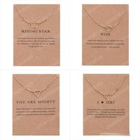 Wholesale Triangle Heart Necklace - New Luxury Brand Dogeared Necklaces Gold Rising Star Wish Flower triangle Heart charms Pendant necklaces For women Fashion Jewelry Gift