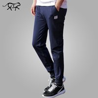 Wholesale Health Boys - Wholesale- Men Pants 2017 New Spring Male Cotton Casual Straight Health Cheap Pants Men Teenage Boy Trousers Track Fashion Plus Size M-4XL