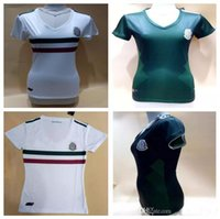 Wholesale White Girl S - Top quality Mexico 2017 2018 World Cup women Soccer jersey Chicharito football shirt 17 18 Mexico Female green white girls soccer jersey