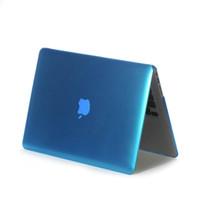 hard case macbook 15 toptan satış-Buzlu Yüzey Mat sert Kapak Kılıf Macbook Hava 11.6 13.3 Pro 13.3 15. 4 Retina Laptop çantası Mac Kitap pro 13 için kılıf