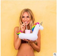 Wholesale Good Items - Unicorn Cup Holder coke Phone Cup Holder swim pool floating toys good quality Drink Botlle Holder