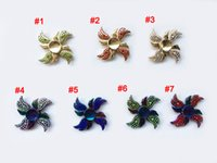Wholesale Wholesale Angle Wings - New arrival Rainbow Fidget Spinner Colorful Decompression toys 4 Angle Wings Hand Spinners Zinc Alloy Metal Tri-spinner HandSpinner toy b30