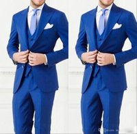 Wholesale Men Cheap Business Suit - 2017 Cheap Custom Made Men Suit Bestmen Groom Tuxedos Formal Suits Business Men Wear(Jacket+Pants+Tie+Vest) New Arrival