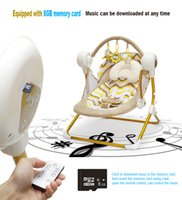 Wholesale Electric Baby Rocking - MP3 bluetooth electric baby swing music rocking chair automatic cradle baby sleeping basket placarders chaise lounge