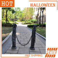 Wholesale Haunted Bar Decorations - Wholesale-Halloween Beast column decorations Halloween Realistic Halloween props bar Haunted House Halloween Horror tricky Free Shipping